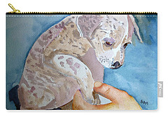 Puppy Shaking Hands Carry-all Pouch