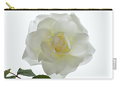 Pure White Rose Carry-all Pouch by Terence Davis