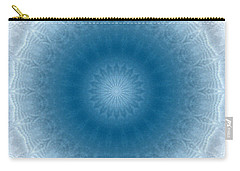 Carry-all Pouch featuring the digital art Purity Mandala By Rgiada by Giada Rossi