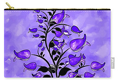 Purple Abstract Flowers Carry-all Pouch