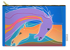 Purple And Gold Carry-all Pouch by Mary Armstrong