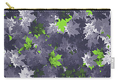 Purple And Green Leaves Carry-all Pouch by Methune Hively