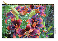 Purple And Orange Tiger Lily Carry-all Pouch