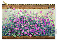 Purple And Pink Flowers Carry-all Pouch
