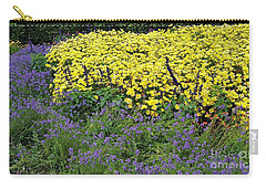 Purple And Yellow Flower Compound Carry-all Pouch