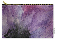 Carry-all Pouch featuring the painting Purple Anemone 2 by Marna Edwards Flavell