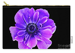 Purple Anemone Flower Carry-all Pouch by Mariola Bitner