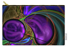 Carry-all Pouch featuring the digital art Purple Anyone by Deborah Benoit