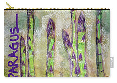 Carry-all Pouch featuring the painting Purple Asparagus by Kim Nelson