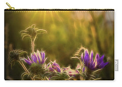 Purple Aster Glow Carry-all Pouch