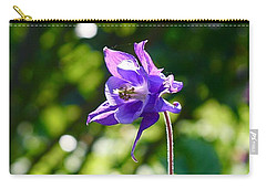 Carry-all Pouch featuring the photograph Purple Beauty  by Gabriella Weninger - David