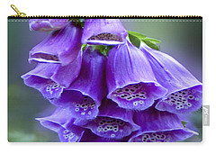 Purple Bell Flowers Foxglove Flowering Stalk Carry-all Pouch