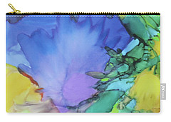 Carry-all Pouch featuring the painting Purple Bird Of Paradise by Deborah Boyd