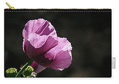 Carry-all Pouch featuring the photograph Purple Blessing by Evelyn Tambour