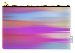 Carry-all Pouch featuring the digital art Purple Bliss Sunrise Panorama By Kaye Menner by Kaye Menner
