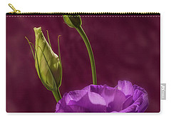 Purple Blossom And Buds Carry-all Pouch by Garry McMichael