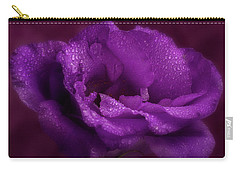Purple Blossom Wit Morning Dew Carry-all Pouch by Garry McMichael