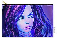 Purple Blue Portrait Carry-all Pouch