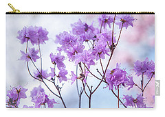 Carry-all Pouch featuring the photograph Purple Blue Romance by Jenny Rainbow