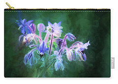 Purple Borage Carry-all Pouch by Bonnie Bruno