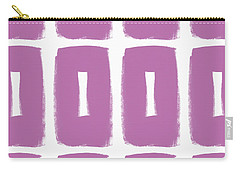 Purple Boxes- Art By Linda Woods Carry-all Pouch