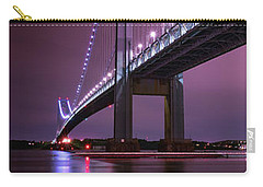 Carry-all Pouch featuring the photograph Purple Bridge by Edgars Erglis