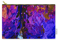 Carry-all Pouch featuring the painting Purple Cave by Joan Reese
