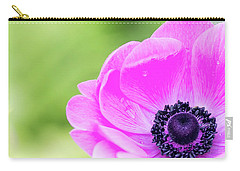 Carry-all Pouch featuring the photograph Purple Center by Rebecca Cozart