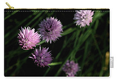 Carry-all Pouch featuring the photograph Purple Chives by Angela Rath
