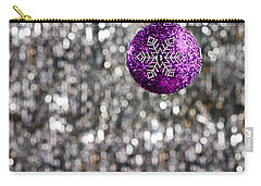 Carry-all Pouch featuring the photograph Purple Christmas Bauble  by Ulrich Schade