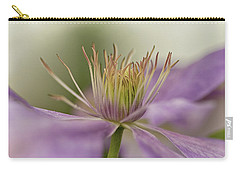 Carry-all Pouch featuring the photograph Purple Clematis Macro by Jacqi Elmslie