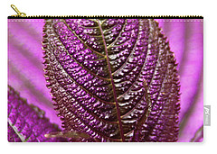 Purple Coleus Carry-all Pouch by Carolyn Marshall
