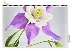 Carry-all Pouch featuring the photograph  Purple Columbine by Ann Bridges