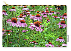Carry-all Pouch featuring the digital art Purple Coneflower  by Eva Kaufman