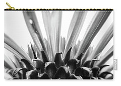 Purple Coneflower In Black And White Carry-all Pouch