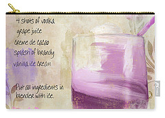 Purple Cow Mixed Cocktail Recipe Sign Carry-all Pouch by Mindy Sommers