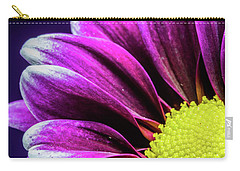 Purple Daisy Being Shy Carry-all Pouch
