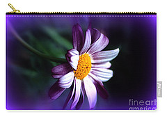 Carry-all Pouch featuring the photograph Purple Daisy Flower by Susanne Van Hulst
