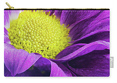 Purple Daisy In The Garden Carry-all Pouch