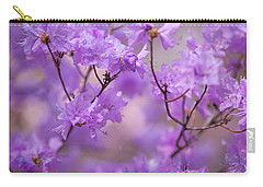 Carry-all Pouch featuring the photograph Purple Delight. Spring Watercolors by Jenny Rainbow