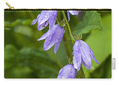 Purple Dew Drops Carry-all Pouch