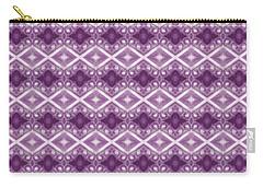 Carry-all Pouch featuring the digital art Purple Diamonds by Elizabeth Lock