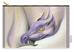 Carry-all Pouch featuring the pastel Purple Dragon On The Wing by MM Anderson