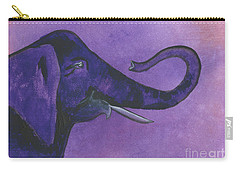 Purple Elephant Carry-all Pouch