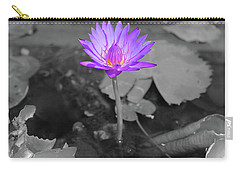 Purple Enlightened Lotus Carry-all Pouch