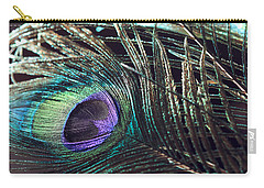 Purple Feather With Dark Background Carry-all Pouch