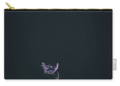 Purple Feather1 Carry-all Pouch by Timothy Latta