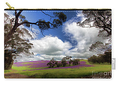 Purple Fields Carry-all Pouch by Douglas Barnard