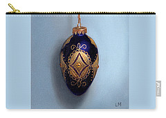 Purple Filigree Egg Ornament Carry-all Pouch