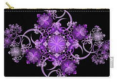 Carry-all Pouch featuring the photograph Purple Floral Celebration by Sandy Keeton